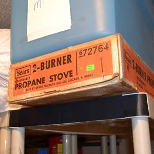 Lot # 97 CAMPING STOVE 2 BURNER PROPANE
