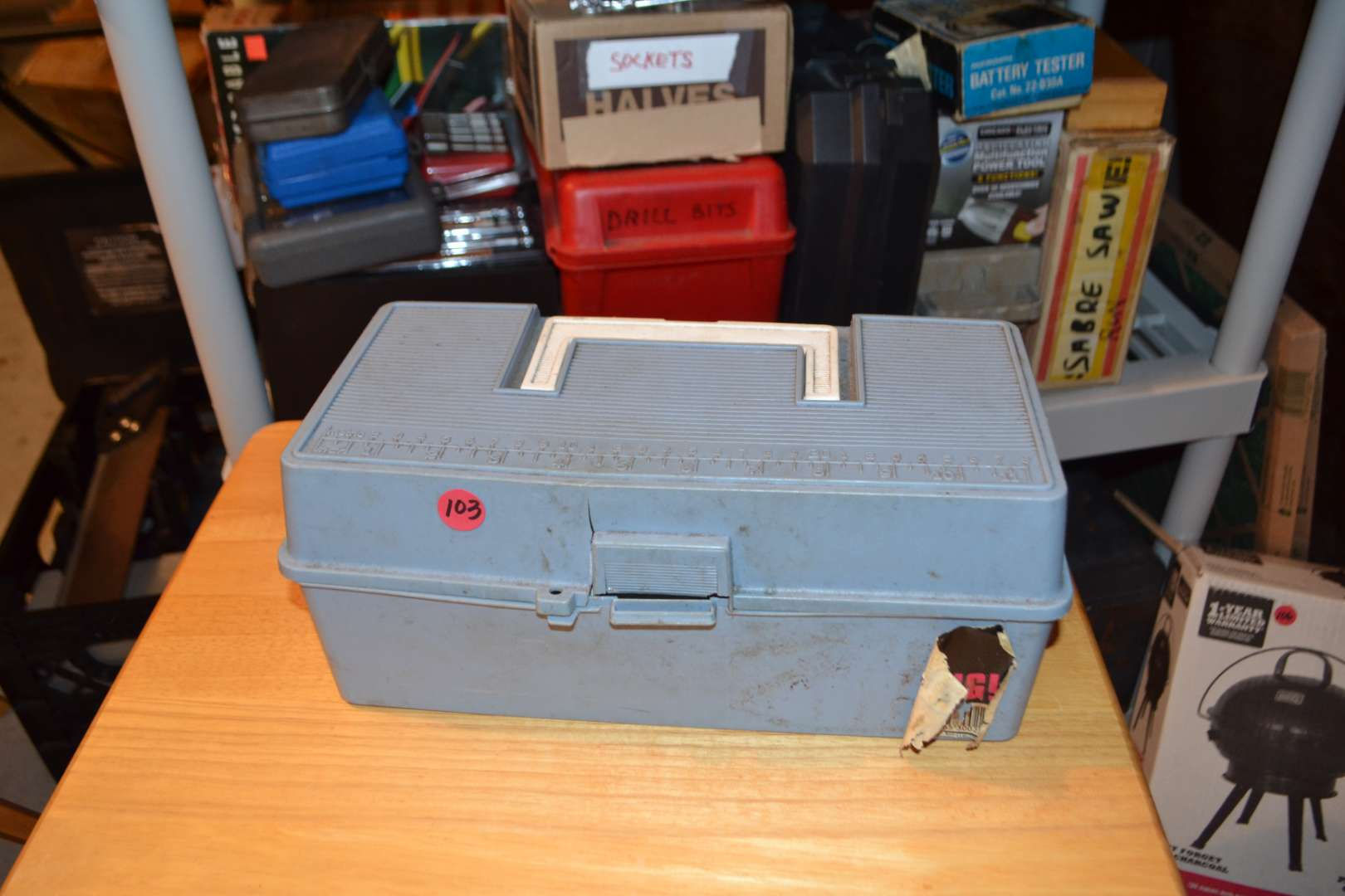 Lot # 103 TOOL BOX WITH TOOLS