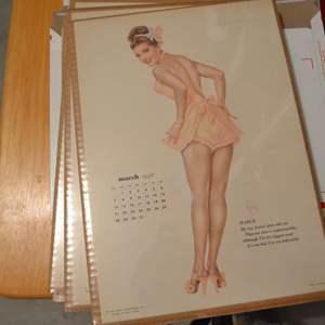 Lot # 139 VINTAGE VARGA GIRL MARCH 1948