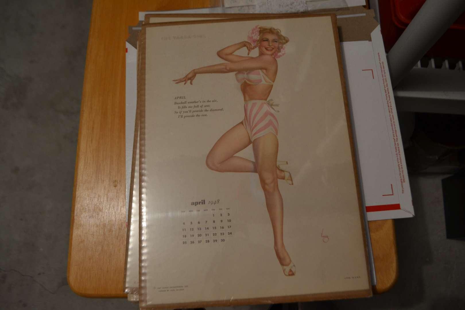 Lot # 140 VINTAGE VARGA GIRL APRIL 1948
