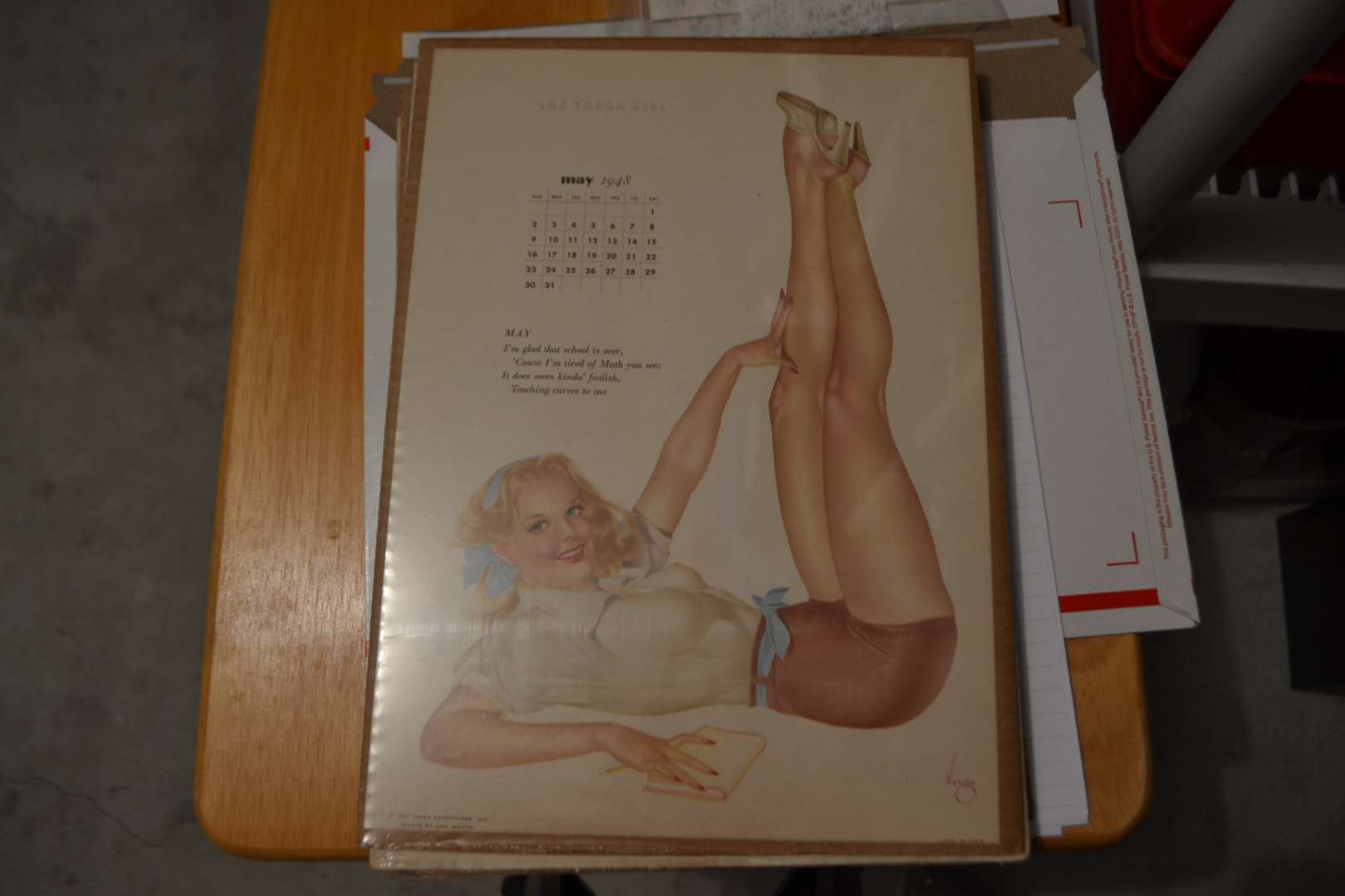 Lot # 141 VINTAGE VARGA GIRL MAY 1948