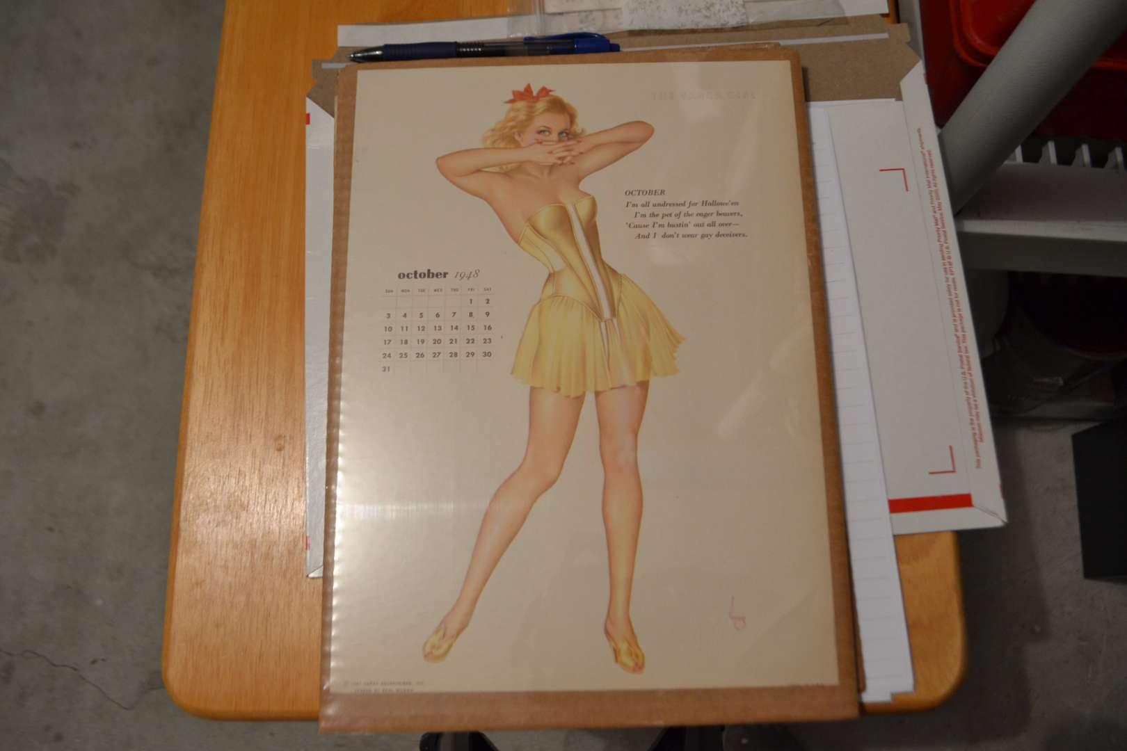 Lot # 145 VINTAGE VARGA GIRL OCTOBER 1948
