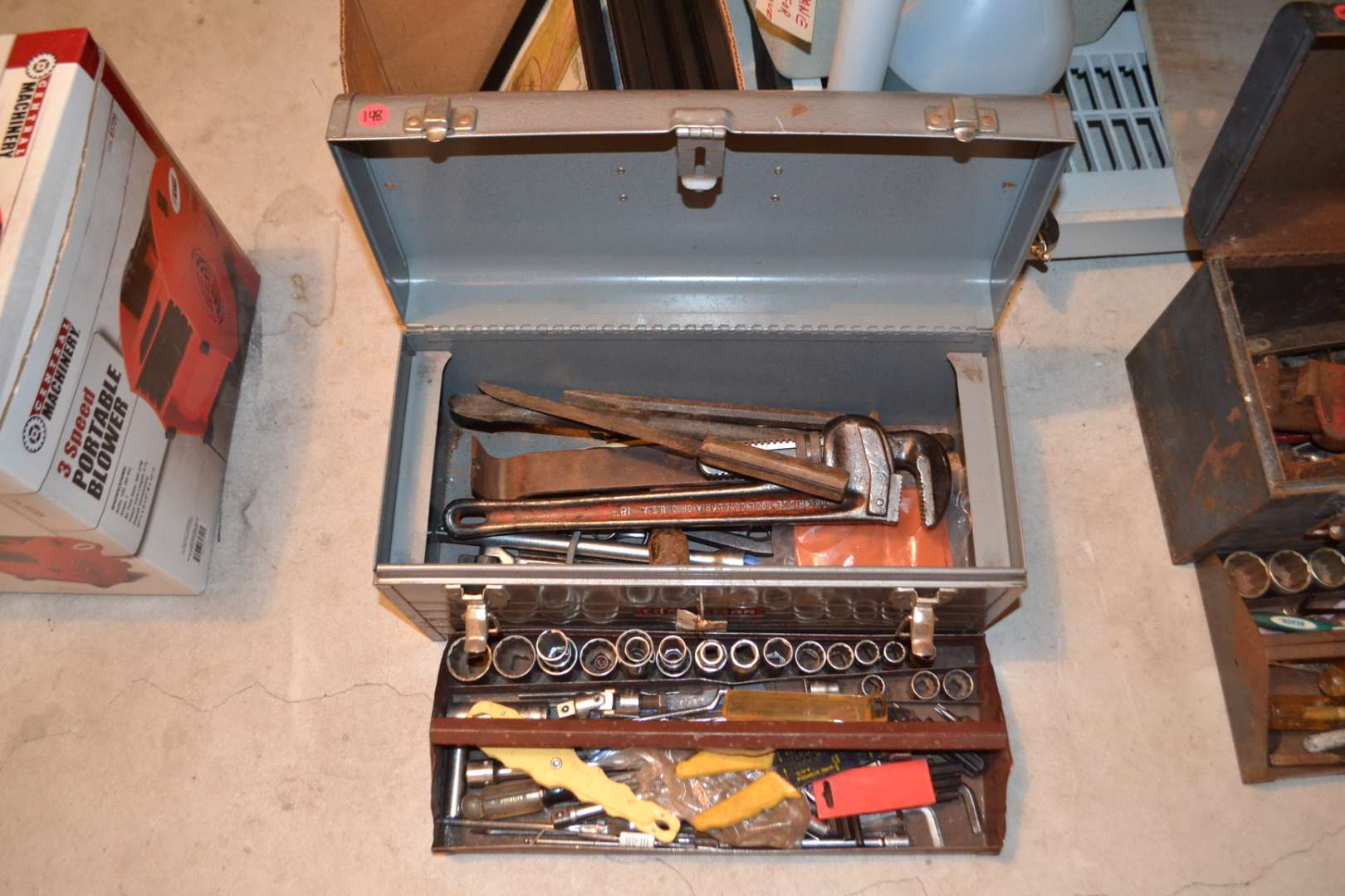 Lot # 148 TOOL BOX WITH CONTENTS