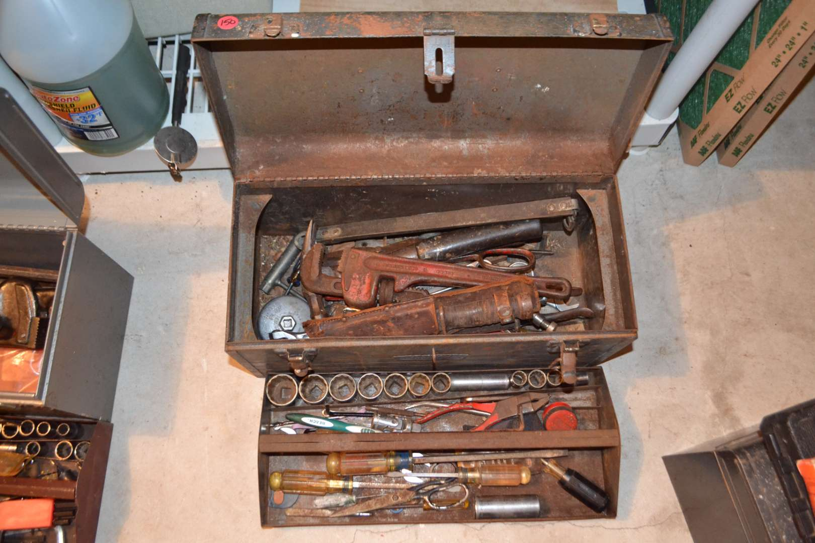 Lot # 150 TOOL BOX WITH CONTENTS