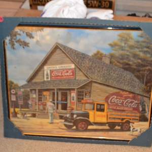 Lot # 175 COCO-COLA FRAMED WALL ART 16 X 20