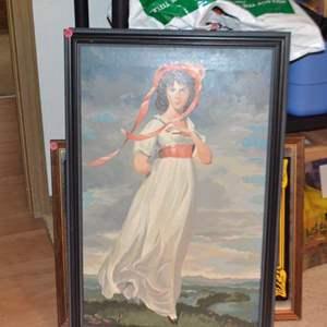 Lot # 185 VINTAGE FRAMED ART 21 X 31
