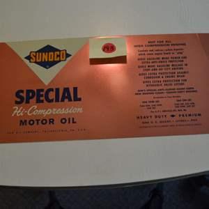 Lot # 193 SUNOCO OIL CAN SPECIAL HI-COMPRESSION MOTOR OIL
