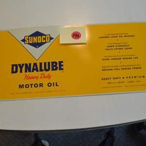 Lot # 194 SUNOCO OIL CAN DYNALUBE HEAVY DUTY MOTOR OIL