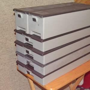 Lot # 225 SIX DIEBOLD PLASTIC SAFE DEPOSIT BOXES