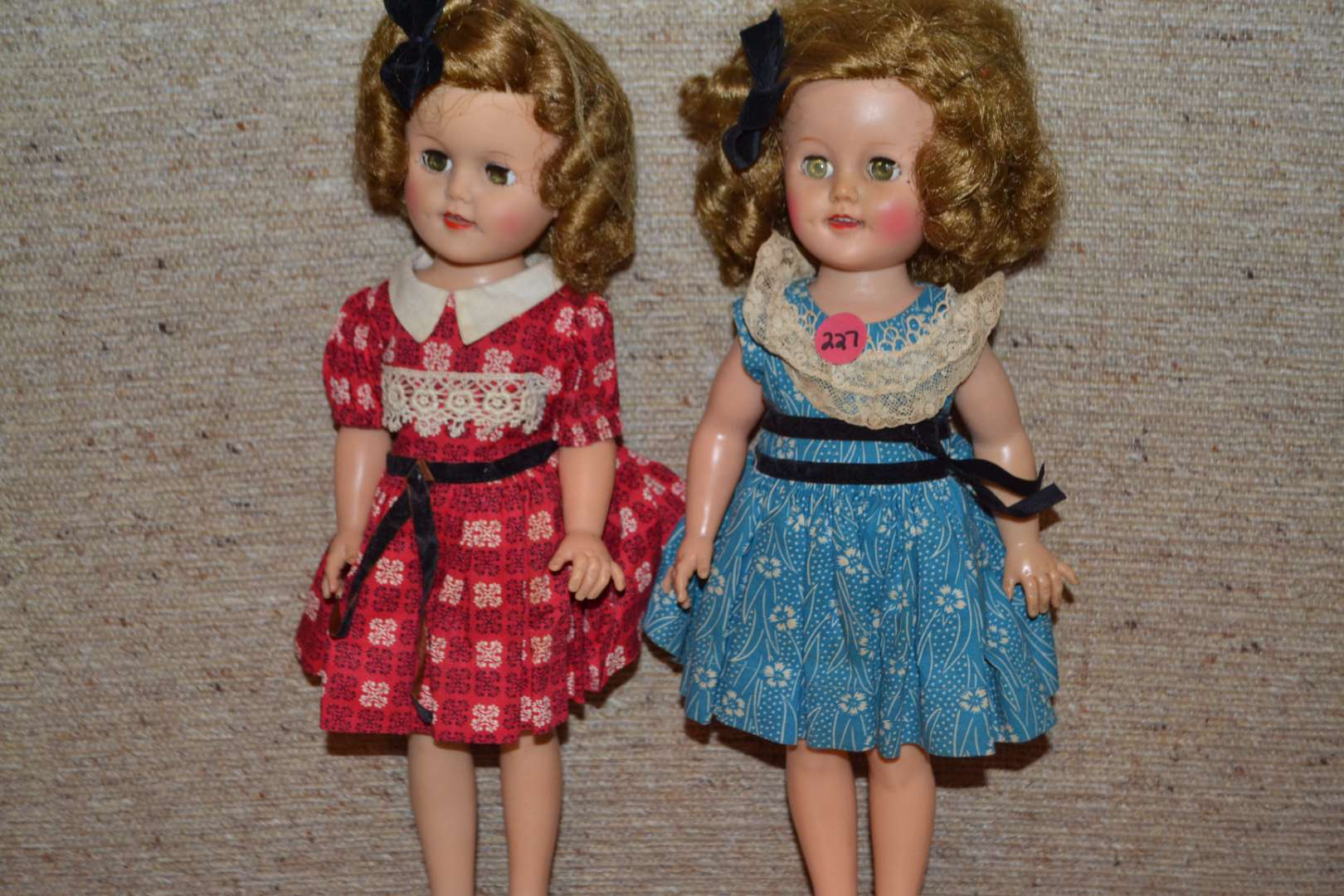 Lot # 227 TWO VINTAGE SHIRLEY TEMPLE? DOLLS