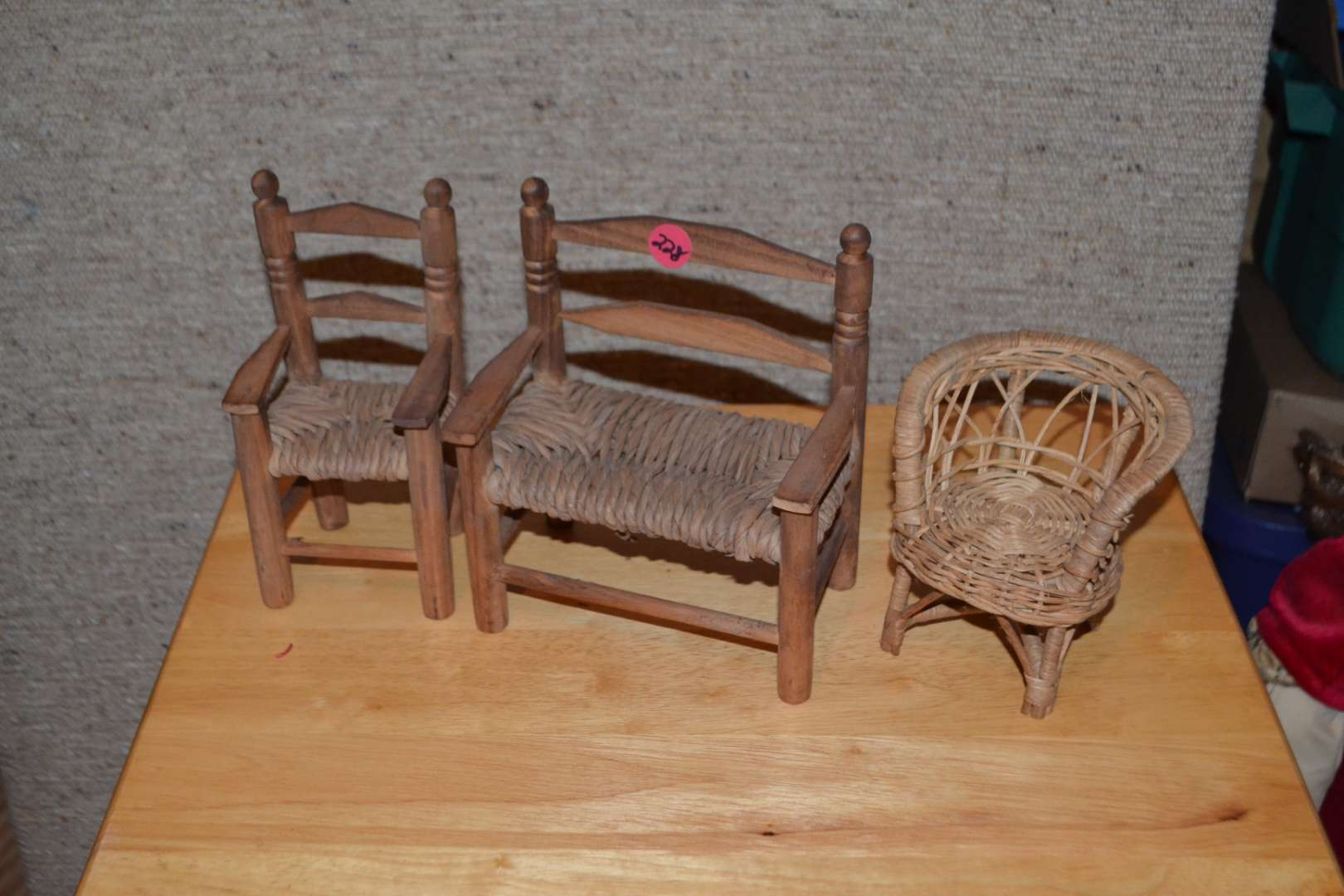 Lot # 228 DOLL FUNITURE