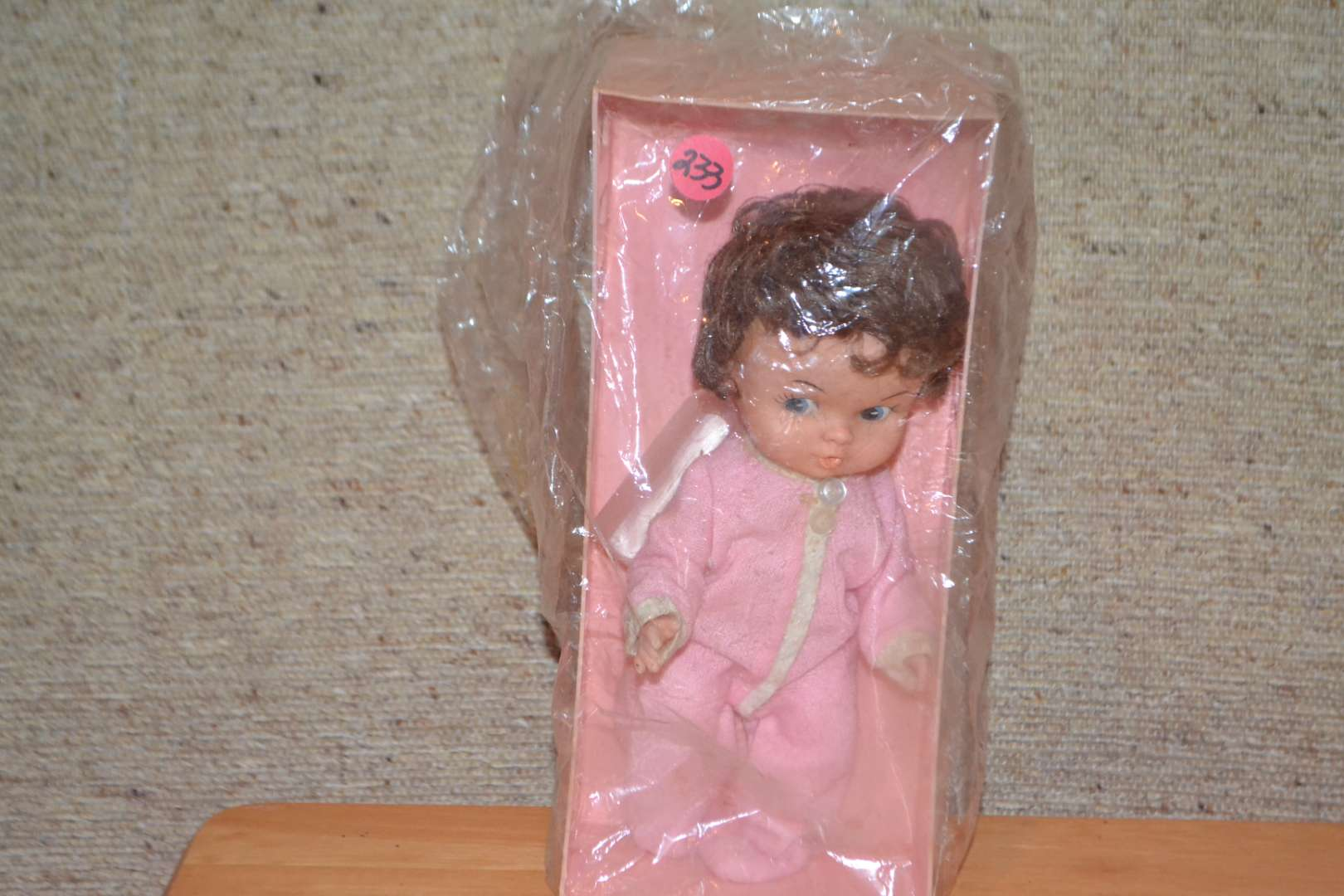 Lot # 233 VINTAGE DOLL WITH BED