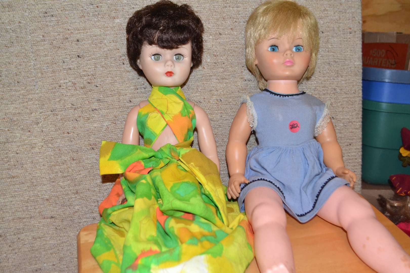 Lot # 282 TWO LARGE DOLLS