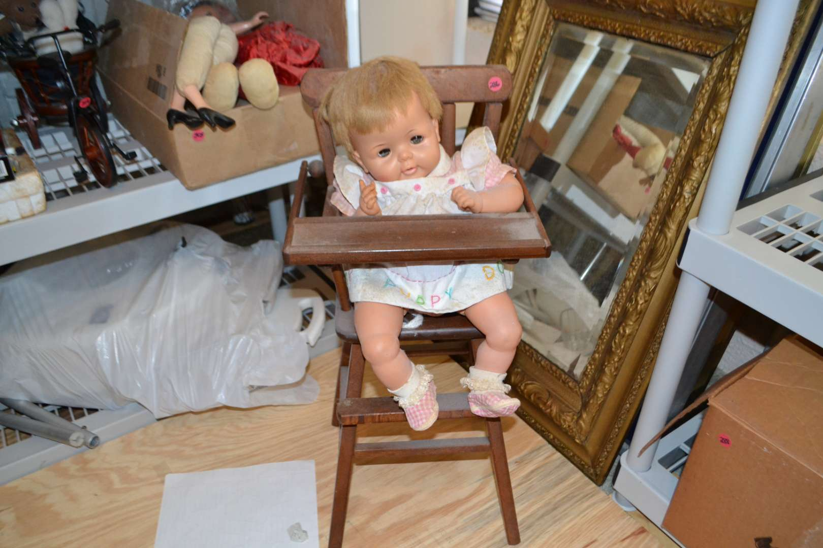 Lot # 286 HIGH CHAIR WITH DOLL