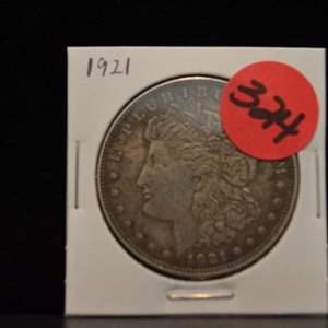 Lot # 324 1921 MORGAN SILVER DOLLAR