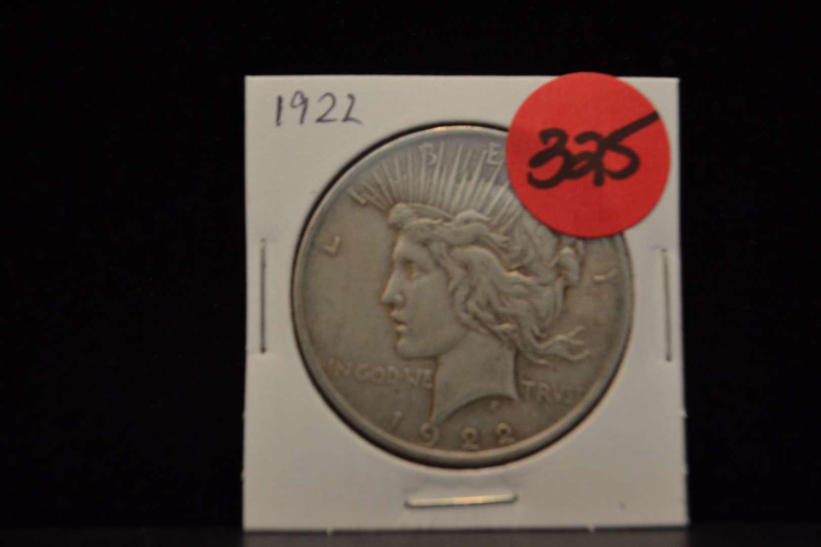 Lot # 325 1922 SILVER PEACE DOLLAR