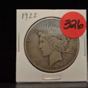 Lot # 326 1922 SILVER PEACE DOLLAR