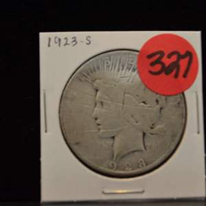 Lot # 327 1923-S SILVER PEACE DOLLAR