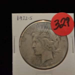 Lot # 329 1922-S SILVER PEACE DOLLAR