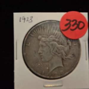 Lot # 330 1923 SILVER PEACE DOLLAR
