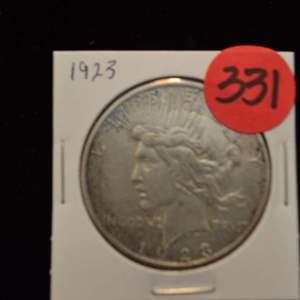 Lot # 331 1923 SILVER PEACE DOLLAR