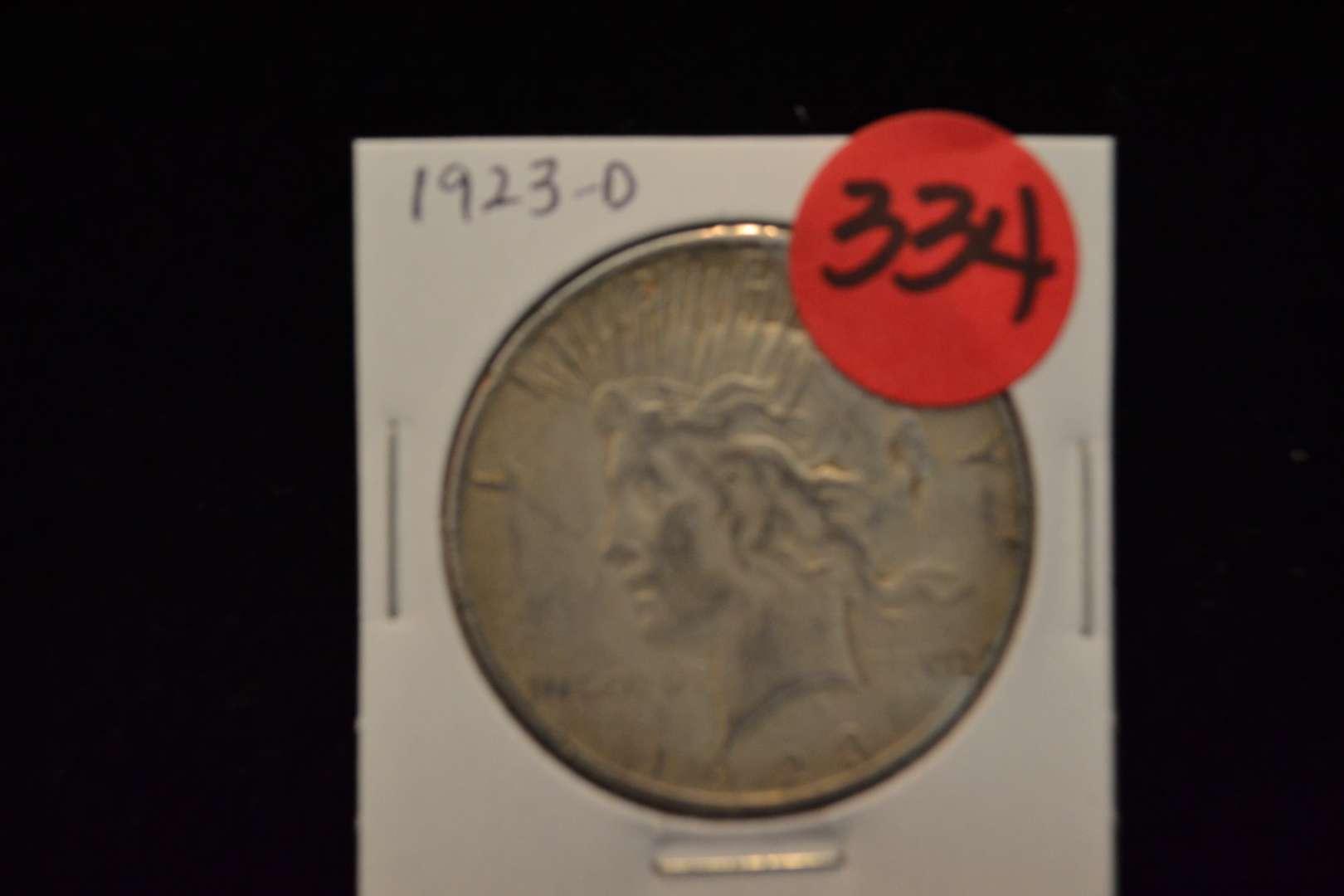 Lot # 334 1923-D SILVER PEACE DOLLAR