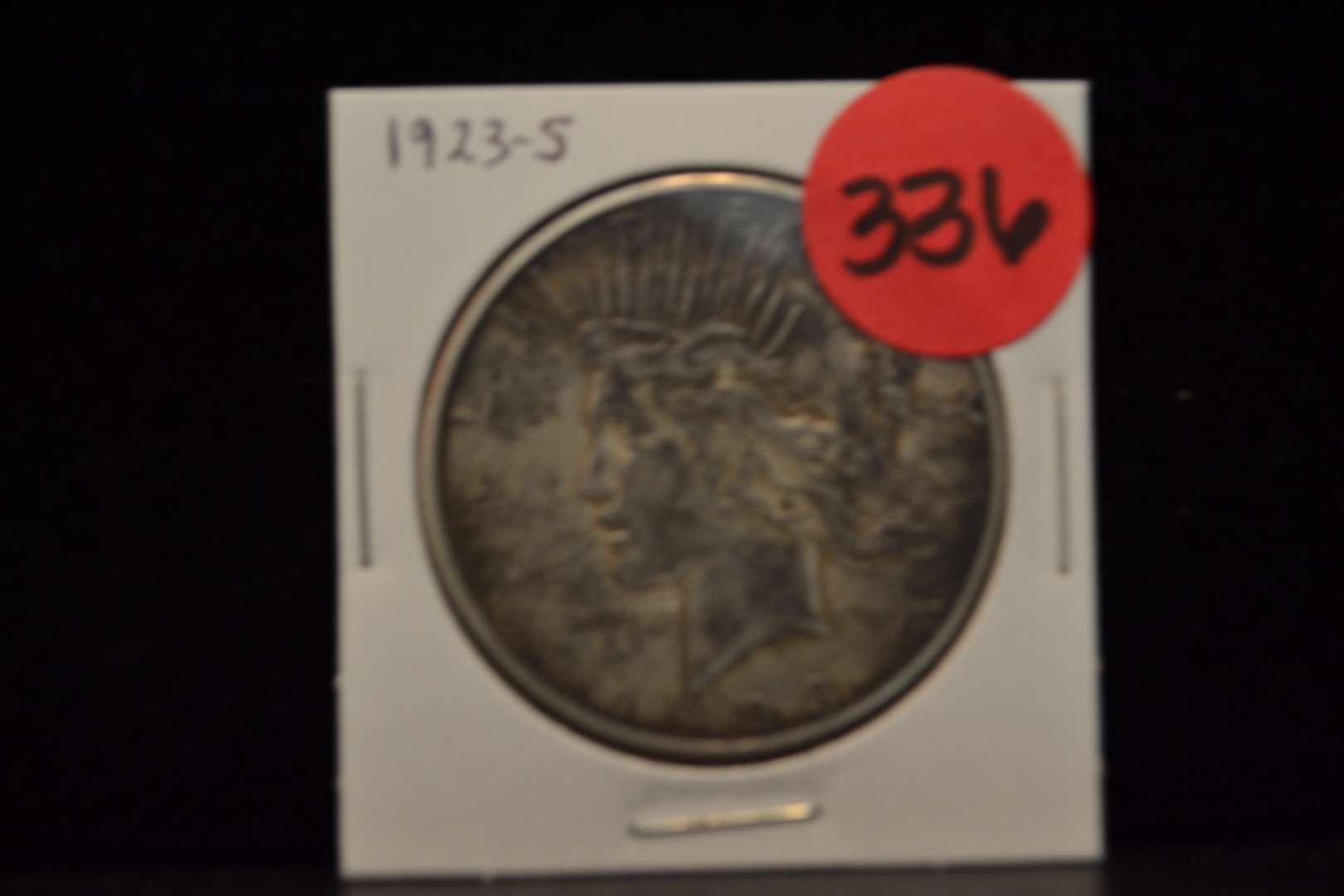 Lot # 336 1923 SILVER PEACE DOLLAR
