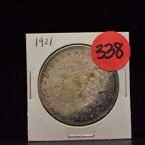 Lot # 338 1921 MORGAN SILVER DOLLAR