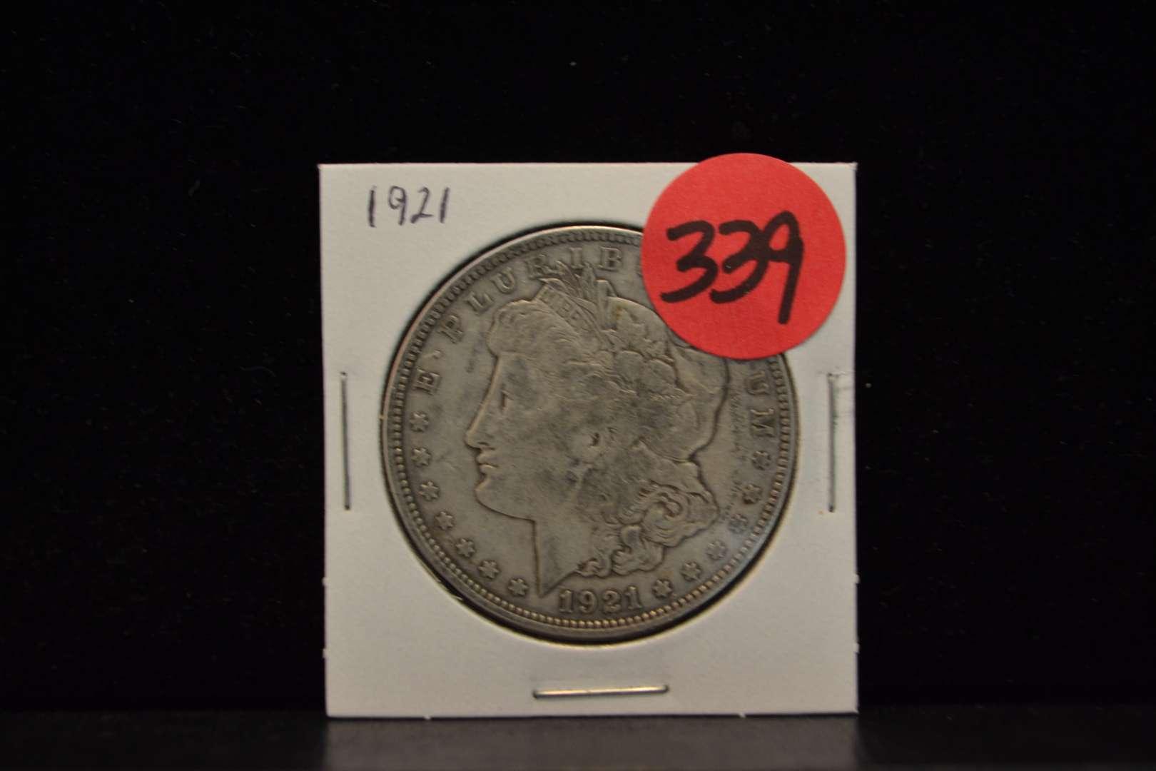 Lot # 339 1921 MORGAN SILVER DOLLAR