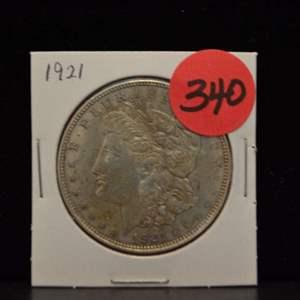 Lot # 340 1921 MORGAN SILVER DOLLAR