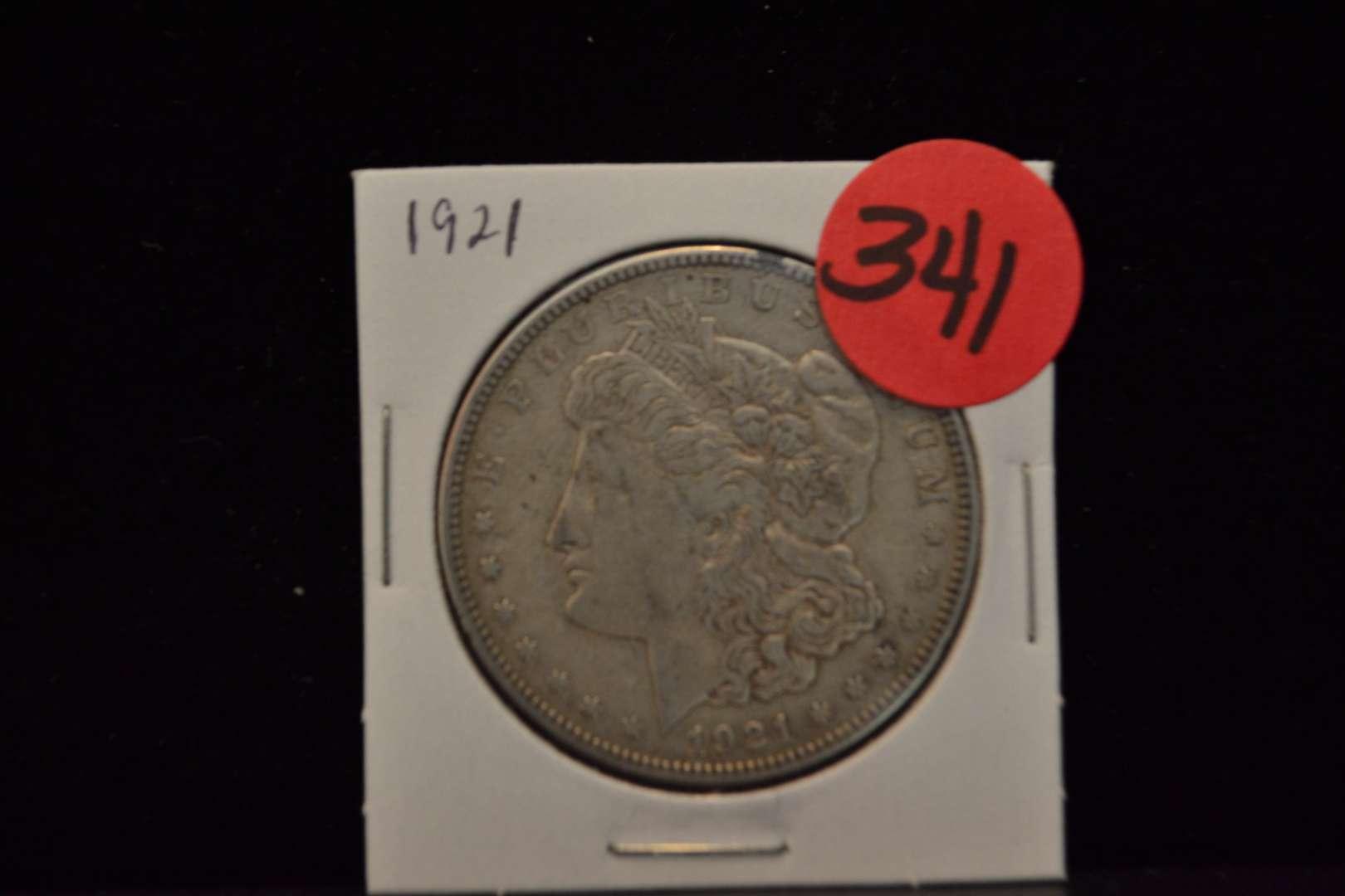 Lot # 341 1921 MORGAN SILVER DOLLAR