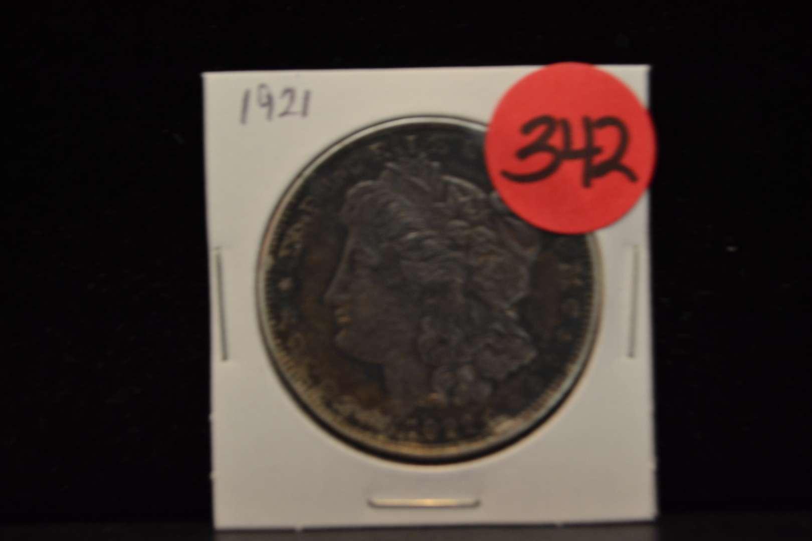 Lot # 342 1921 MORGAN SILVER DOLLAR
