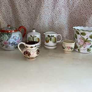 Lot # 31 Variety of Tea Set Pieces