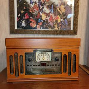 Lot # 206 Crosley Radio, Record, CD & Tape Player