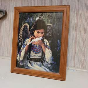 Lot # 348 Picture of Beautiful Native American Girl
