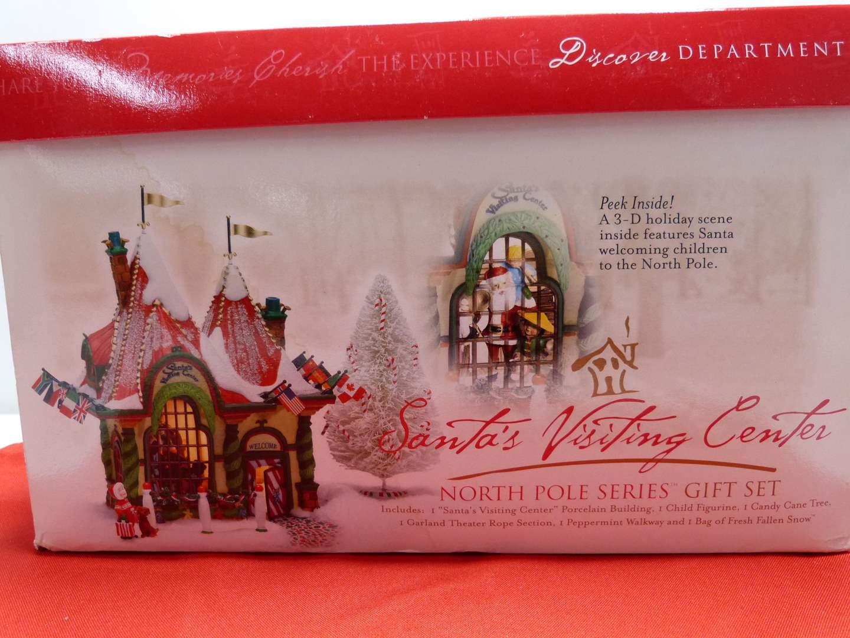 """Lot # 4  Dept 56 """"Santa's Visiting Center"""" missing light (main image)"""