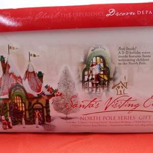 """Lot # 4  Dept 56 """"Santa's Visiting Center"""" missing light"""