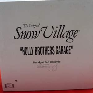 "Lot # 5  Dept 56 ""Holly Brothers Garage""  great building (missing light)"