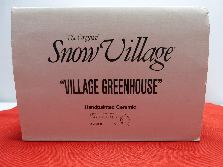 """Lot # 6  Dept 56 """"Village Greenhouse"""" (Missing light)"""