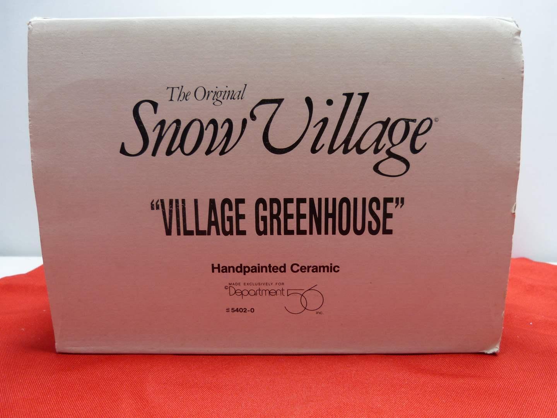 "Lot # 6  Dept 56 ""Village Greenhouse"" (Missing light) (main image)"