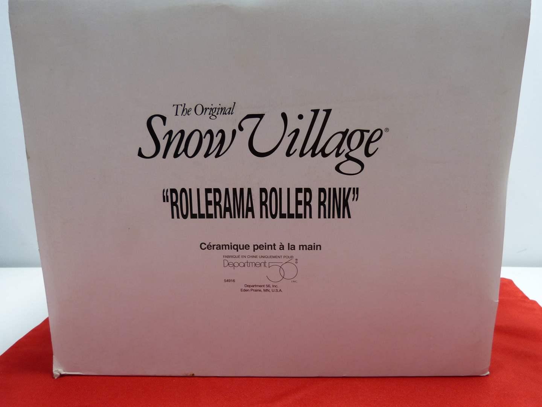"""Lot # 10  Dept 56 """"Rollerama Roller Barn"""" great condition (missing light)"""