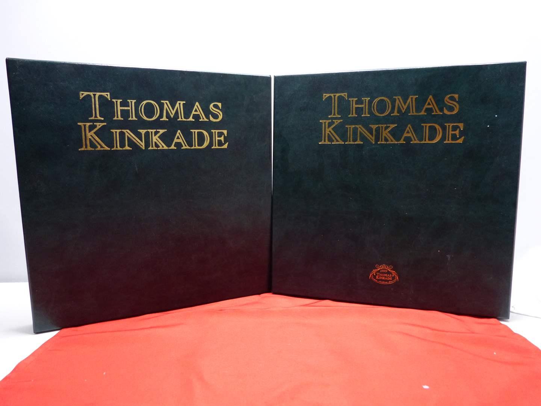 Lot # 12  2 FANTASTIC & MINT Thomas Kinkade holiday collector plates (main image)