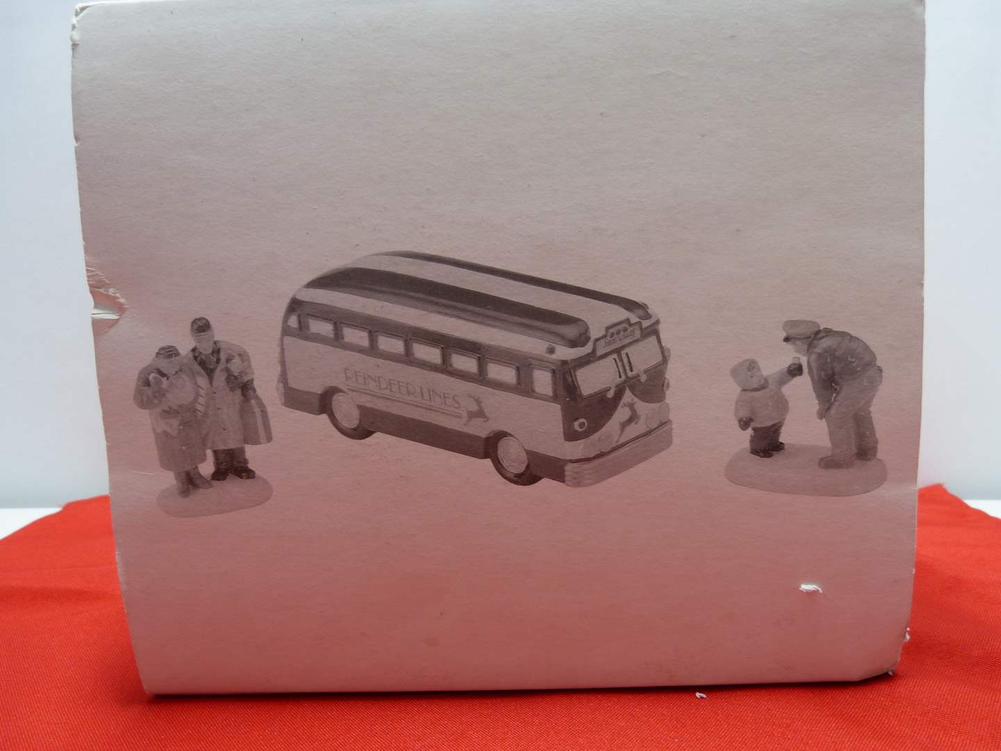 """Lot # 14  Dept 56 great accessory """"A Ride on the Reindeer Lines"""""""