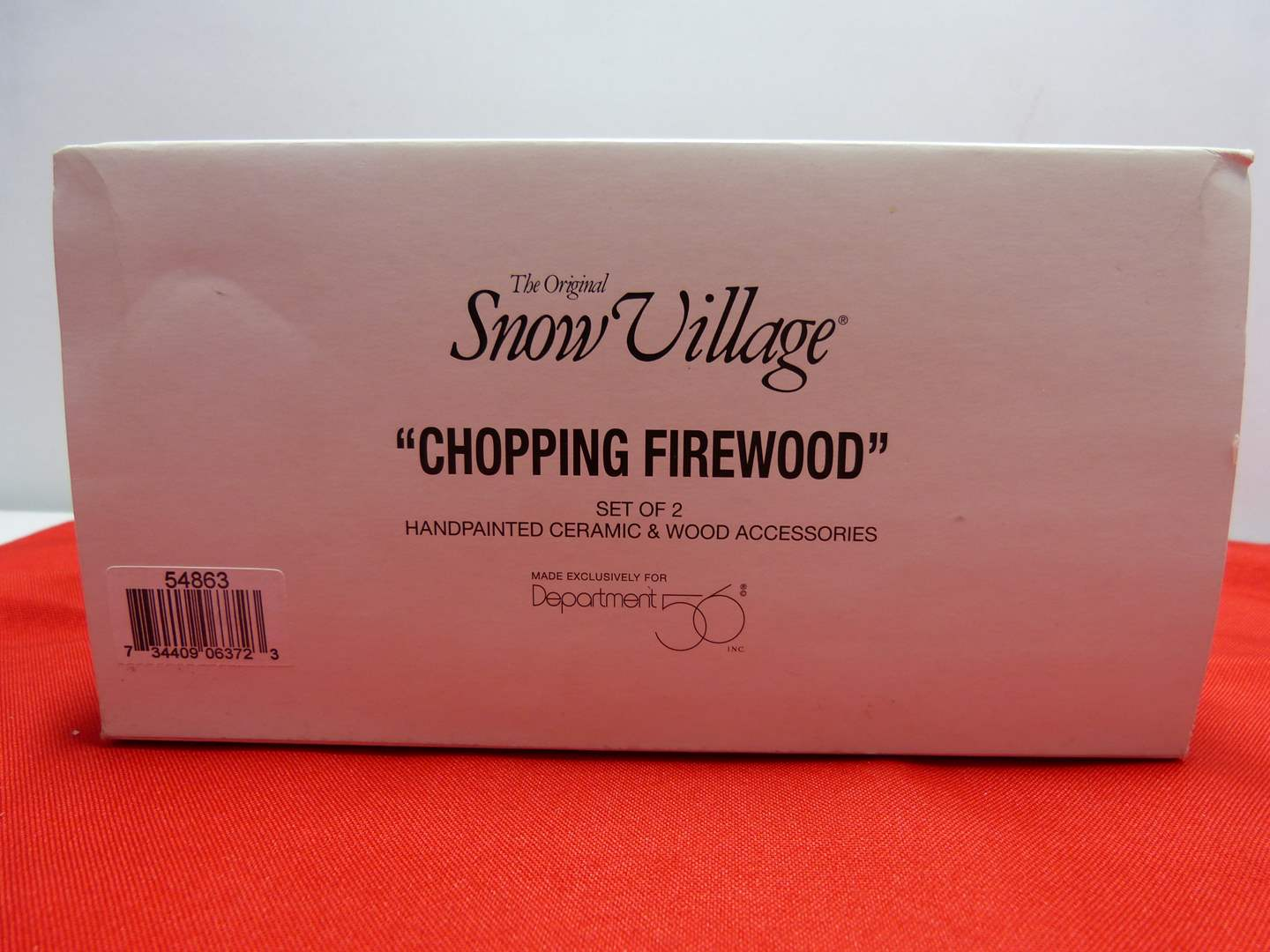 """Lot # 15  Dept 56 accessory """"Chopping Firewood"""" (main image)"""