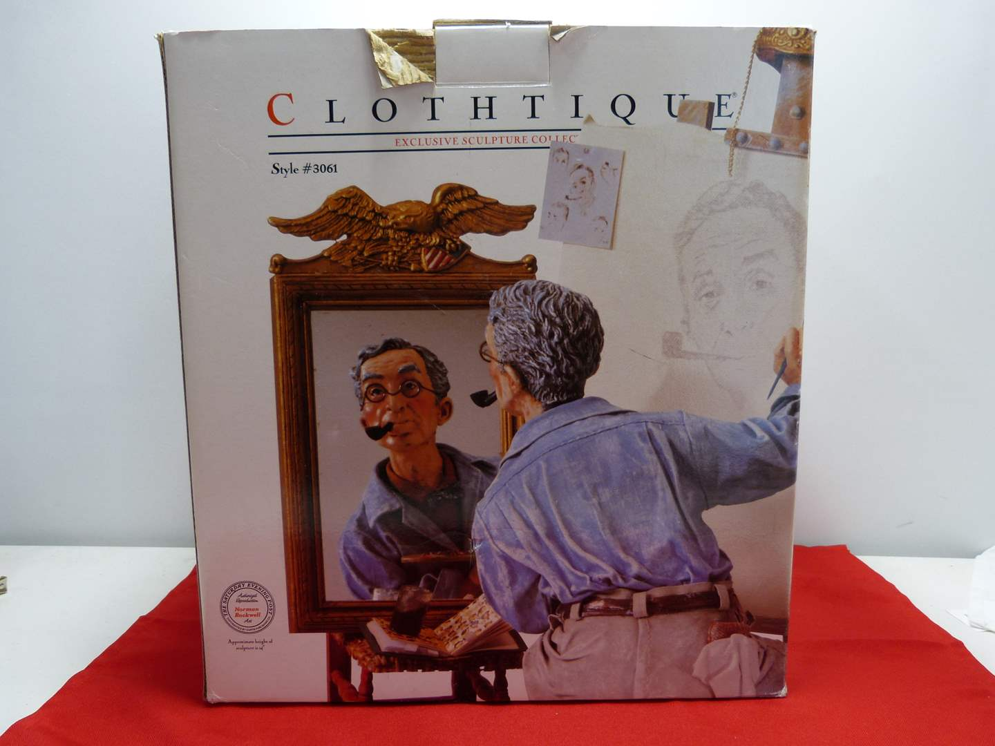"""Lot # 23  WOW fantastic Norman Rockwell """"Self Portrait"""" (missing eagle mirror) (main image)"""