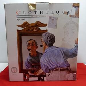 "Lot # 23  WOW fantastic Norman Rockwell ""Self Portrait"" (missing eagle mirror)"