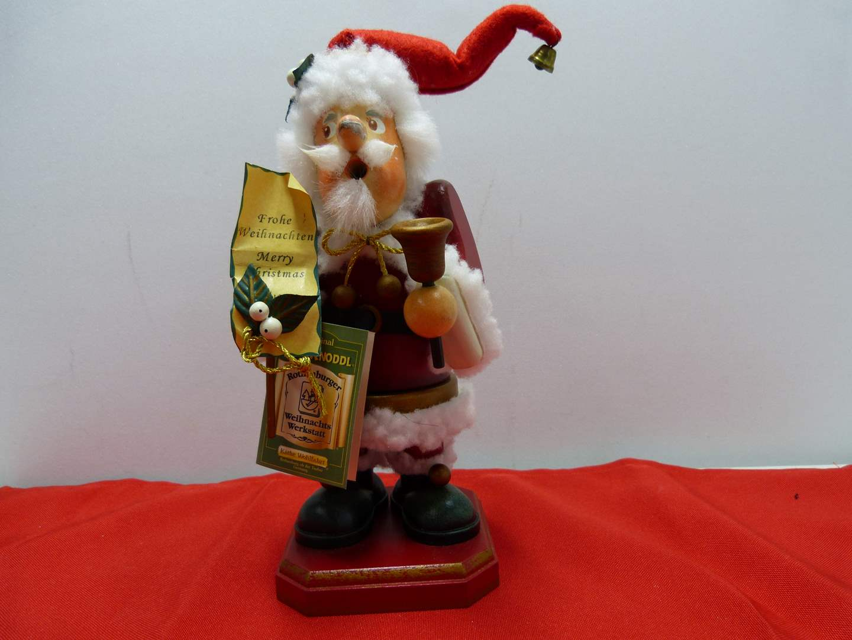 Lot # 30  Great large German Smoker Santa (Bell Ringer) missing pipe (main image)