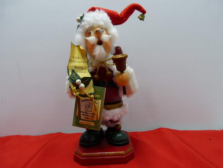Lot # 31  Made in Germany wood smoker Santa Bell Ringer (missing pipe) (main image)