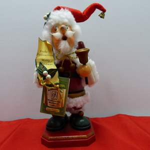 Lot # 31  Made in Germany wood smoker Santa Bell Ringer (missing pipe)