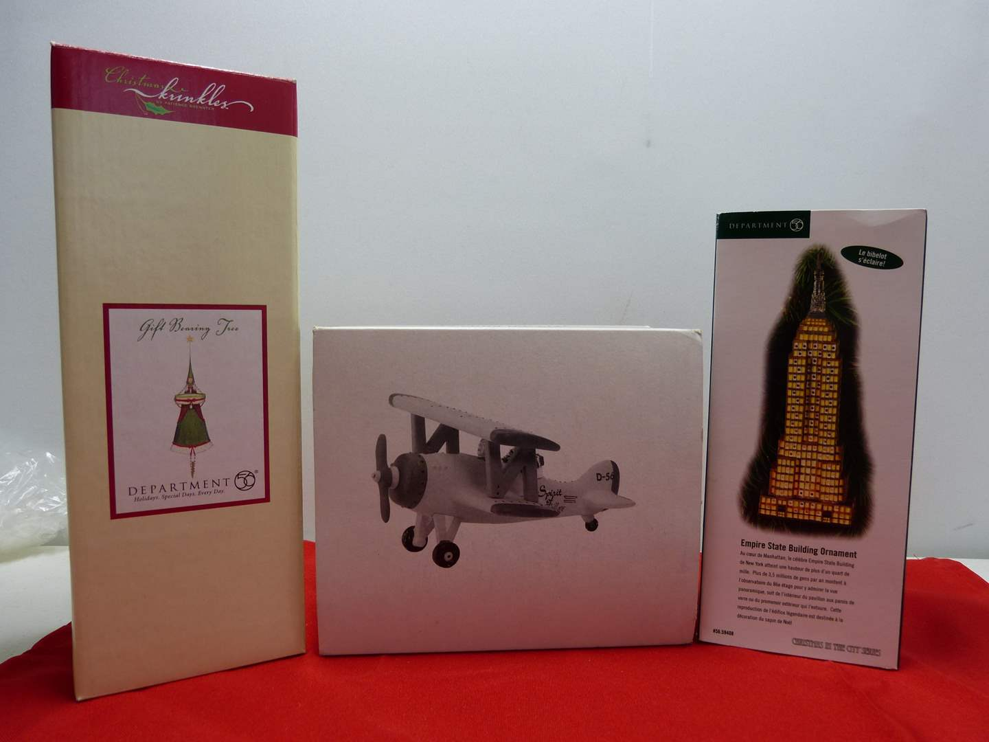 Lot # 33  3 Dept 56 Holiday accessories